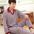 2017 Otoño Invierno Pijamas de algodón para Hombres Pijamas Pijama Hombres del Homme Hombres Pijama ropa de Dormir Camisón de algodón de Gran tamaño XXXL SY105 #3