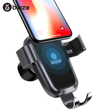 Biaze 10W Wireless Car Charger Gravity Fast Charging Phone Holder Mount in Car for iPhone XR Huawei P30 pro Samsung Smart Phone
