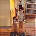 Pequeños Vestidos de Niña Glitter Una Línea de Perlas Niña de las Flores Vestidos Largos de Tulle Kids Vestido de Noche Gatsby Vestido Occidental Vestido de Árabe