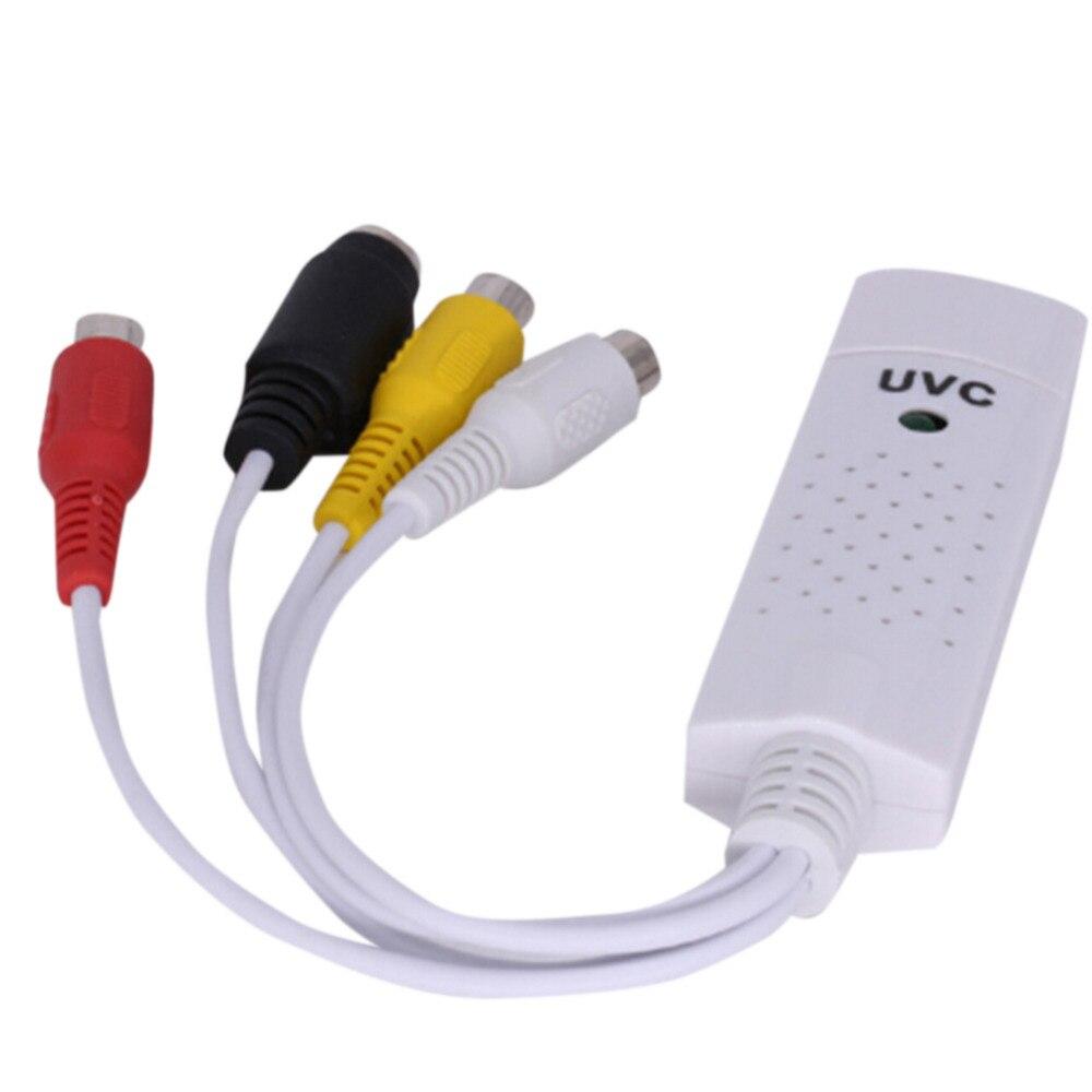 Plug And Play USB 1 3 Canais de Chips de Vídeo Captura de Áudio aquisição de Cartão USB2.0 VHS para DVD DVR Adaptador Para WIN7/8/10 Linux Mac