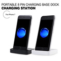 for iPhone 7 Portable 8 Pin Charging Base Dock Charging Station for iPhone 7 Plus Jet Black White