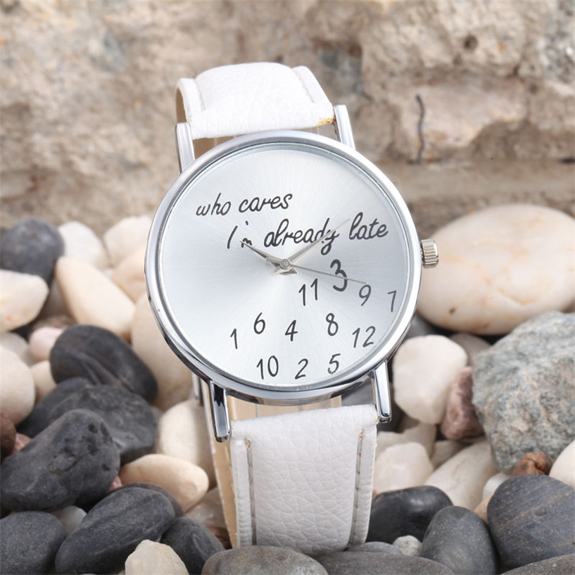 Relogio Femino Fabulous Fashion font b Women b font Men Leather Casual font b Watch b