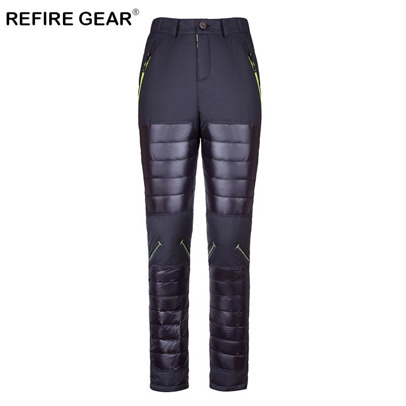 ReFire Gear hiver chaud léger imperméable Camping pantalon hommes thermique coupe-vent en plein air randonnée pantalon mâle ski Sport pantalon