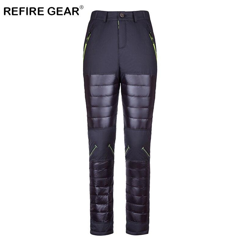 ReFire Gear Winter Warm Lightweight Waterproof Camping Pants Men Thermal Windproof Outdoor Hiking Pants Male Skiing Sport Pants