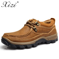 XIZI Brand Men Casual Shoes Men 100 Genuine Leather Loafers Shoes Slip On Shoe Handmade High