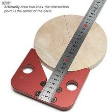 45 градусов угол scribe круглый центр линия scribe деревянные правила плотник круглый сердце линейка макет Калибр Деревообрабатывающие инструменты