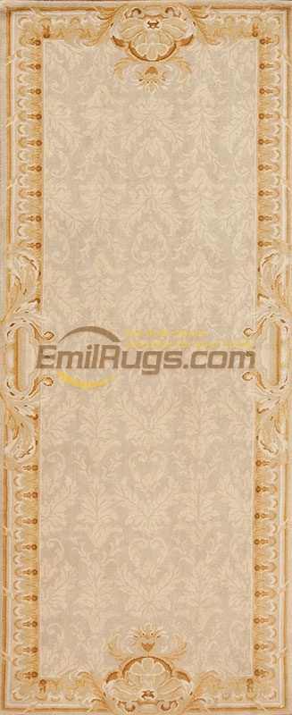 Savonnerie Style Hand Knotted Wool Pile Area Rug Embroidered Curtains Chinese Wool Carpets Natural Sheep Wool
