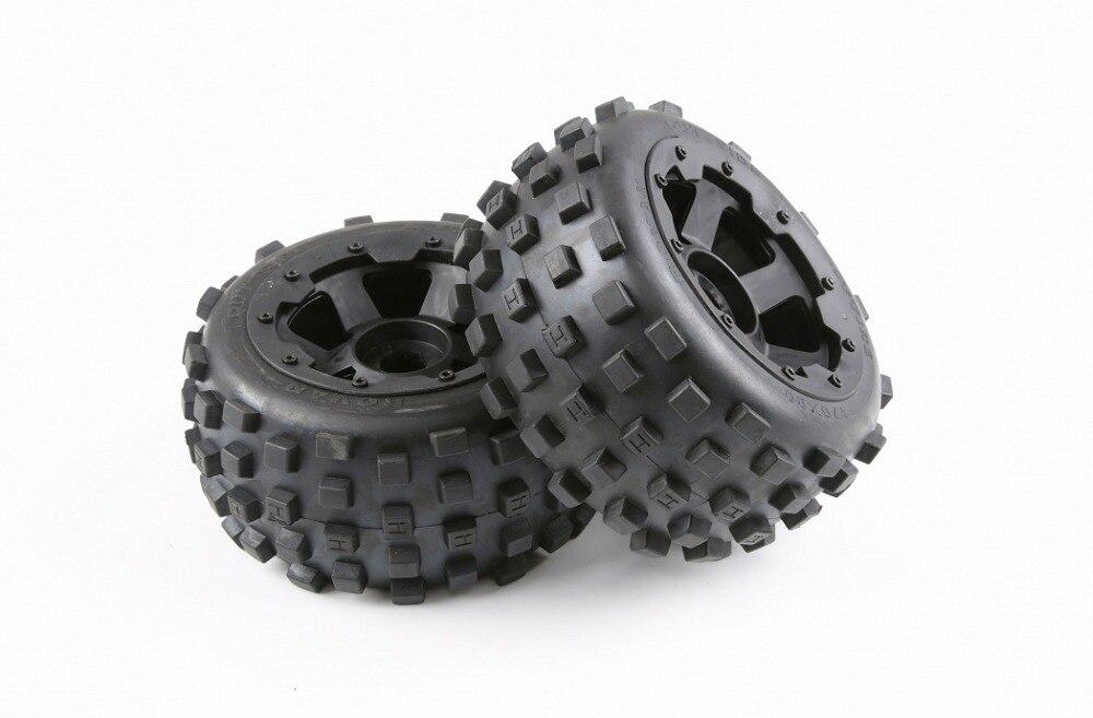 Arrière crampons pneus et moyeu de roue ensemble pour 1/5 rovan hpi km baja 5b pièces de voitures télécommandées