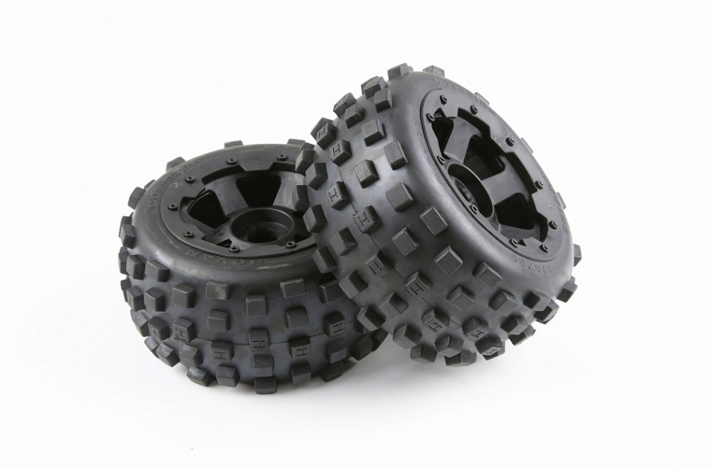 Rear knobby tyres and wheel hub set for 1/5 hpi rovan km baja 5b rc car partsRear knobby tyres and wheel hub set for 1/5 hpi rovan km baja 5b rc car parts