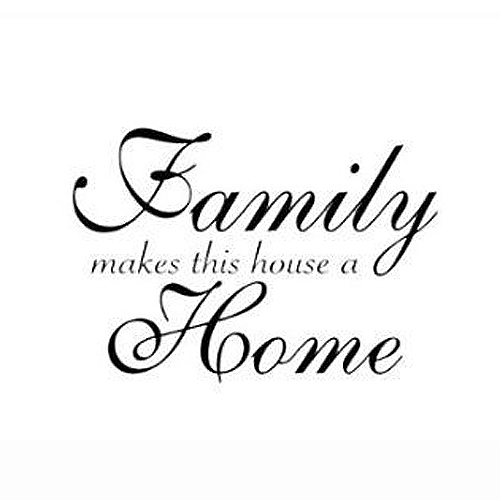 Wall Decals Family Makes This House A Home Lettering Wall Stickers