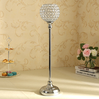 Vintage Crystal Candlestick Candle Tealight Holder Floor Stand Home Wedding Christmas Table Centerpiece Decoration Candelabra