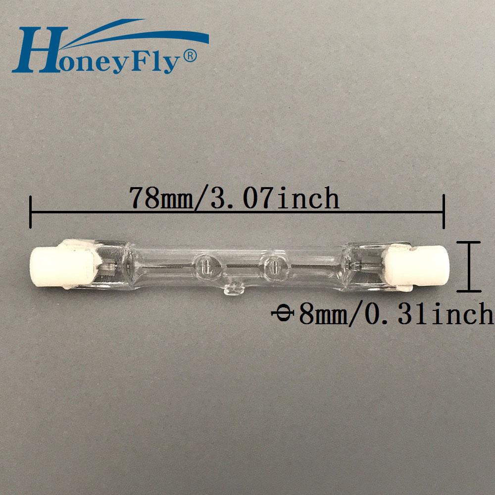 Honeyfly Lamp Filament Halogen-Bulbs Flood-Light Quartz-Tube R7S 220V 120W 10pcs J78