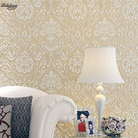3D Ultra Thick Three Dimensional Non Woven European Style Warm Living Room Wallpaper Wallpaper In