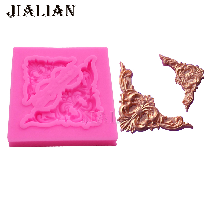 Lace border Vine pattern Silicone mould Fondant DIY Cake Decorating Tools Kitchenware Bakeware baking molds T0899