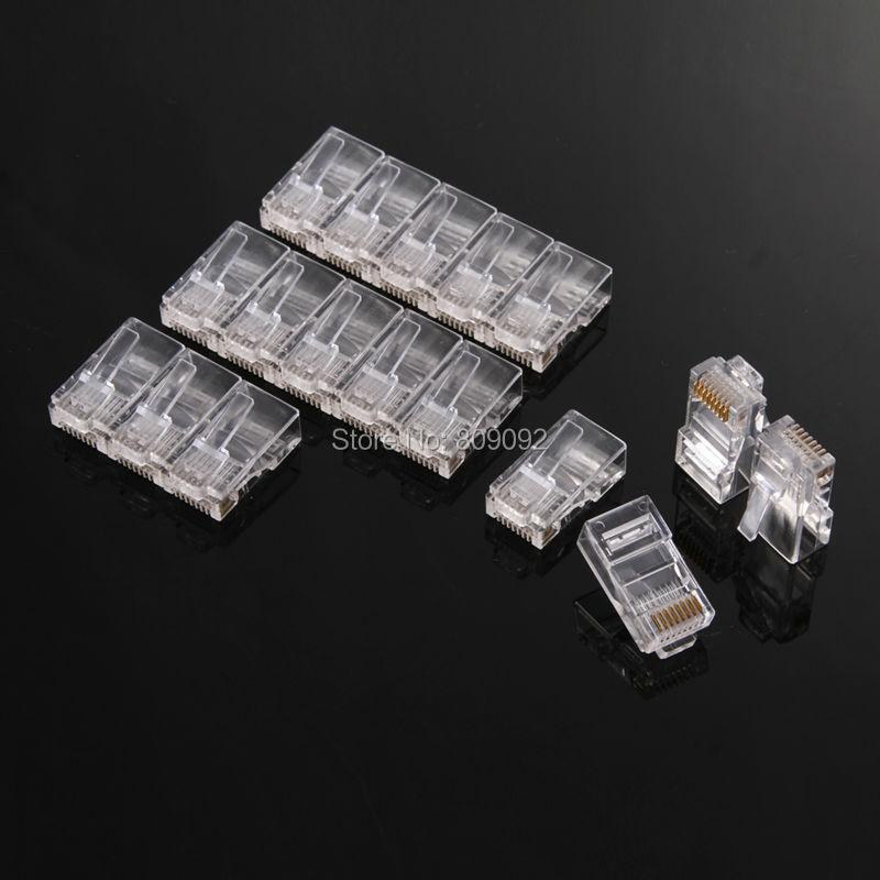 Brand New 1000PCS Crystal Head font b Computer b font font b Network b font Cable