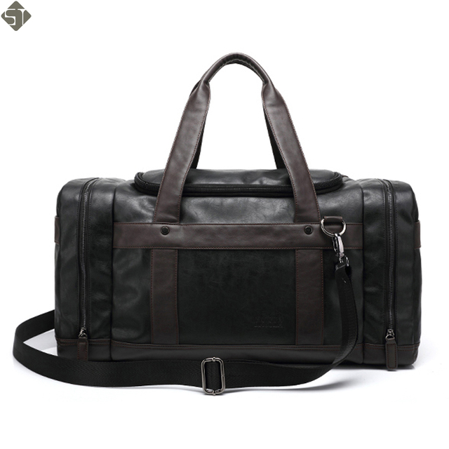 4069f67935 Brand Leather Travel Bags With Side Pockets For Men