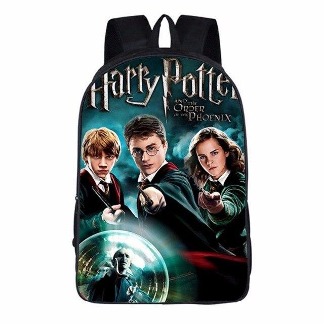 wishot harry potter backpack children school bags for boys girls kids christmas gifts bookbag