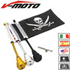 Motorcycle Rear Side Mount Flag Pole America Flag For Harley Sportster XL 883 1200 Luggage Rack