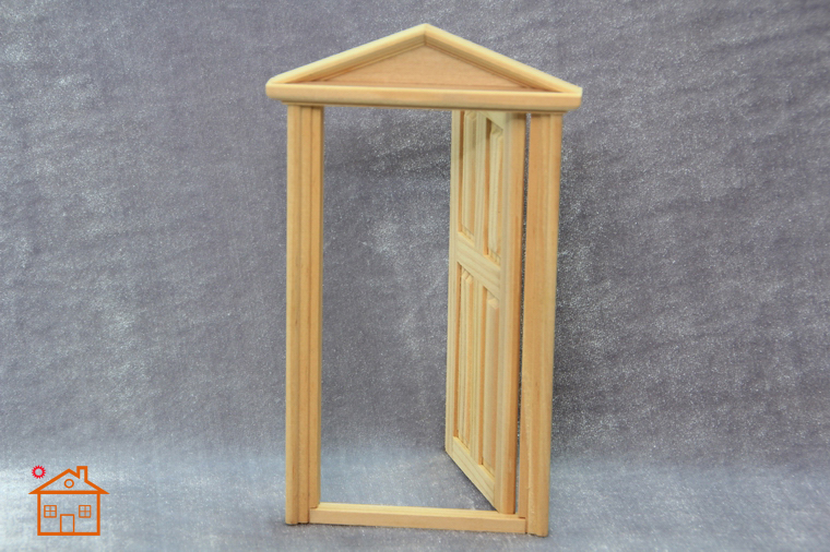 1 12 Modern Mini Dolls Home Decoration Miniature 4 square Wooden Door in Doll Houses from Toys Hobbies