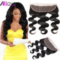 Mink Brazilian Lace Frontal Body Wave Closure 8A Brazilian Virgin Hair Body Wave Lace Frontal Closure 13*4 Ear to Ear Closure