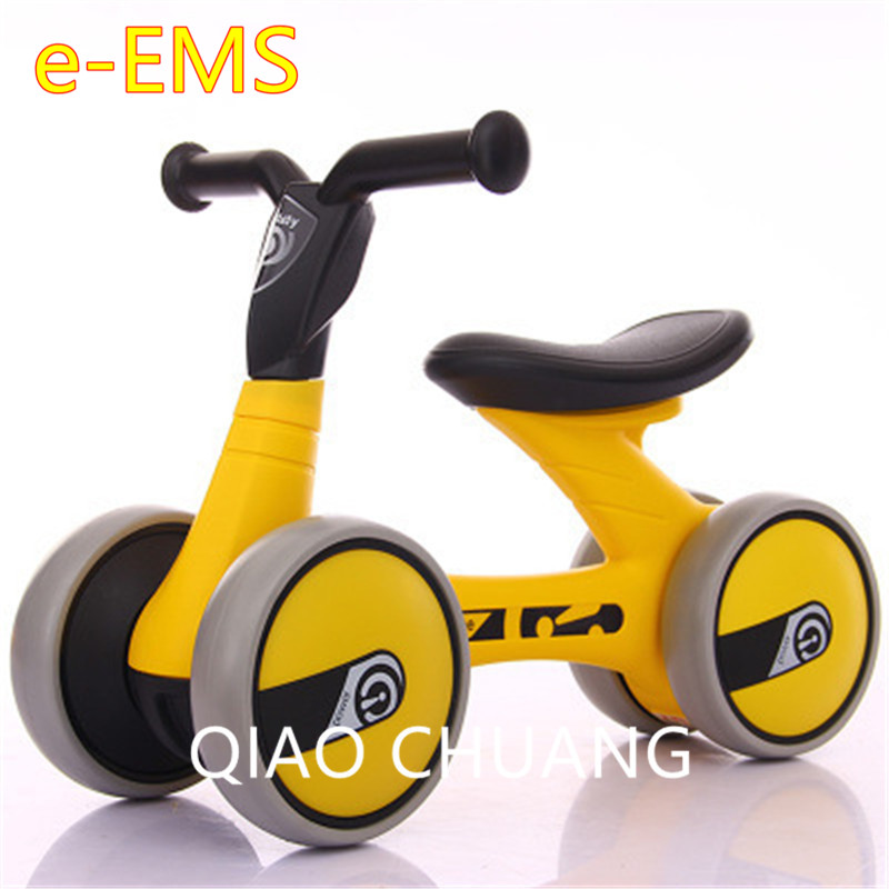 Exercise Your Baby's Balance Four-wheeled No Pedals First Bike Baby Walker Balance Bike Baby Swing Car Mute Wheel Scooter G1520 children baby swing car three round no pedals balance bike mute wheel skid resistance exercise your baby s balance g1521