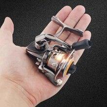 159 釣りリール Mini グラム小さなスピニングリール超軽量とのスムーズなアルミスプール鯉トラウト