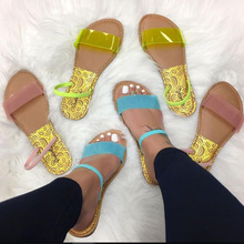 Summer Women Sandals Slip-On Jelly Shoes Cut Out Ladies Flat Sandals Outdoor Holiday Slides 06