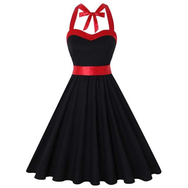69246c6d5 US $15.93 30% OFF|Summer Dress 2018 Vintage Rockabilly Dress 60s 50s Retro  Big Swing Floral Pinup Women Audrey Hepburn Dress Vestidos-in Dresses from  ...