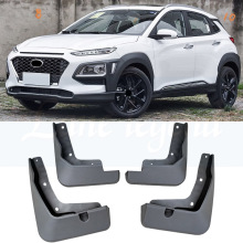 4pcs abs chrome rear window side triangle cover accessory trim c pillar trim strip for hyundai kona kauai encino 2017 2018 4PCS Black ABS Mud guard Dirt Fender Cover Exterior Molding Trim Car Styling Accessories For HYUNDAI ENCINO KONA 2018
