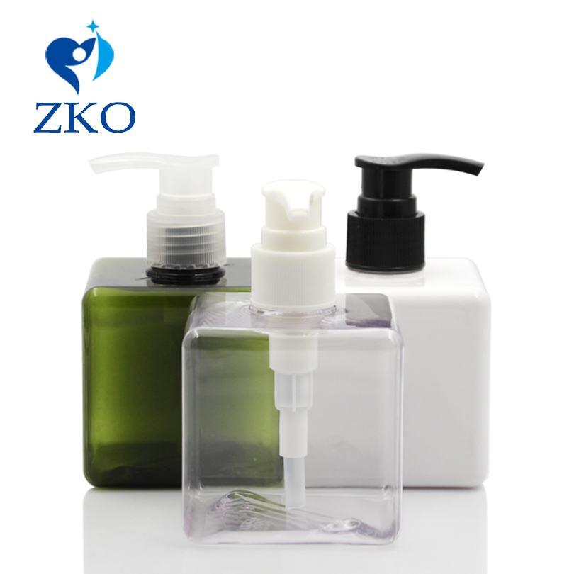 1 Pcs  Free Shipping 250ml Square Shape PETG Bottle With Cosmetics Hand Lotion Pump Shampoo Lotion Pump Emulsion Bottle