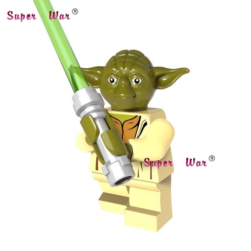 Single star wars Ewok yoda master super heroes marvel dc comics building blocks models bricks toys for children kits цена