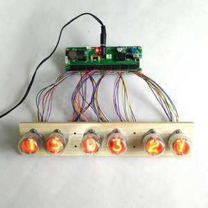 Image 2 - 6 bit glow tube clock core board control board with remote control can be use in12 in14 in18 qs30 1
