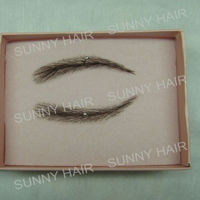 hand made human hair false eyebrow 012 black color natural shape 1