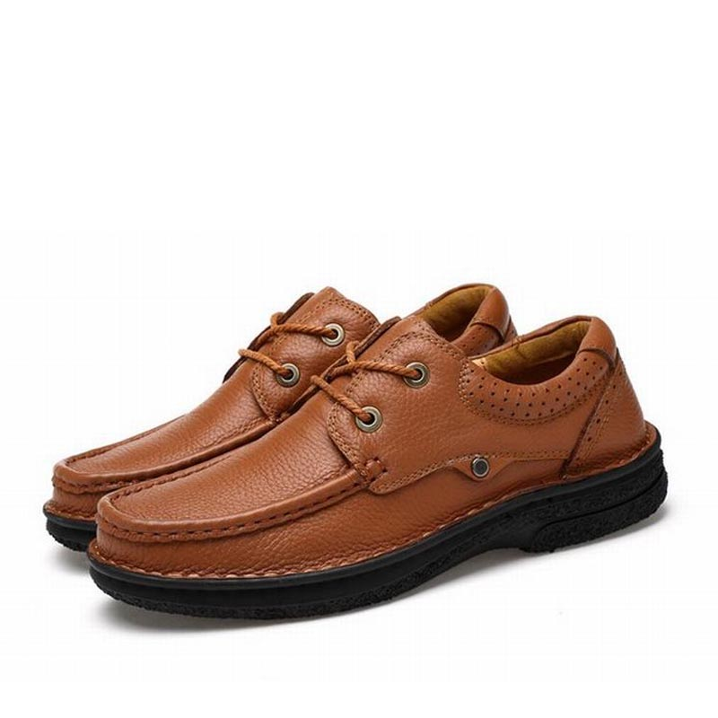 Fashion genuine leather men shoe zapatillas zapatos hombre lace up work man casual business party mens dress shoes plus size 48 leather casual shoes zapatillas hombre casual sapatos business shoes oxford flats hand made man shoe free shipping sv comfort