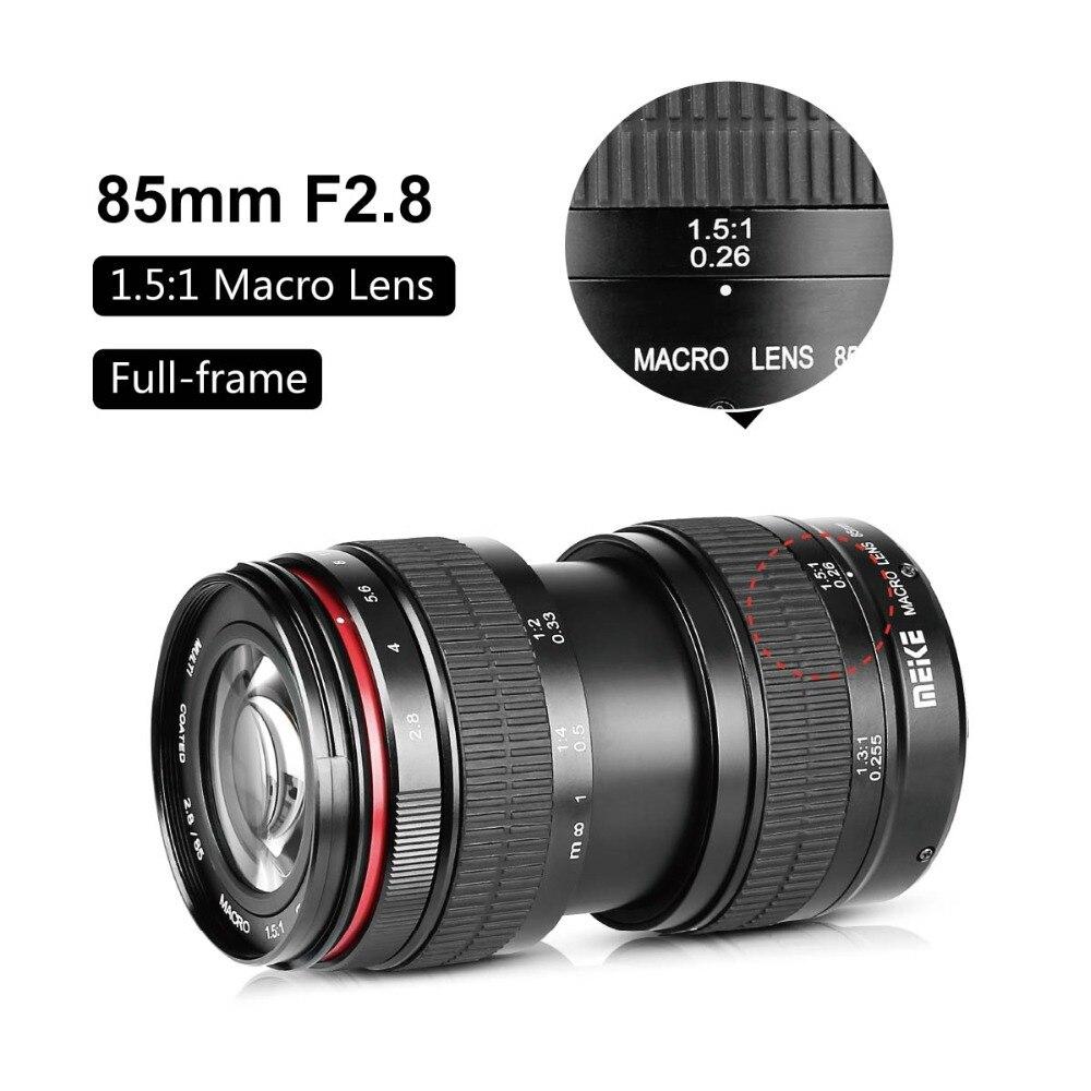 MEKE 85mm f/2.8 Manual Focus Full Frame Macro Lens for Nikon DSLR ...