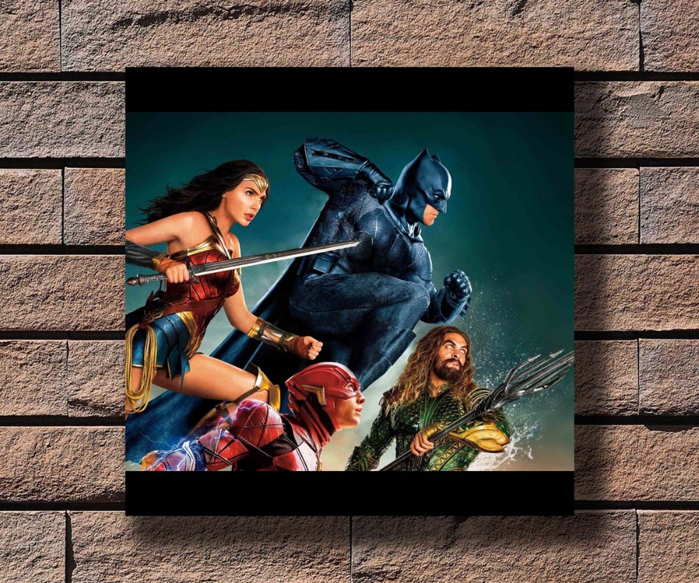 Home Decor 100% Quality G-335 Justice League Dc Movie Superhero Batman Flash Fabric Home Decoration Art Poster Wall Canvas 12x12 20x20 24x24inch Print Keep You Fit All The Time
