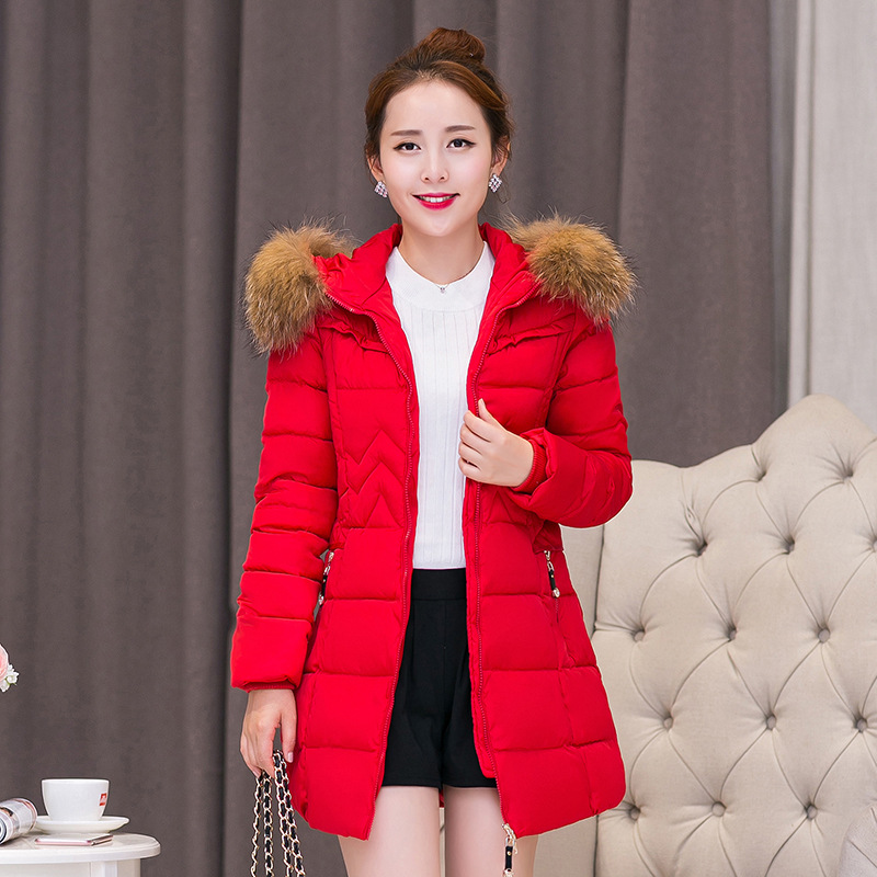 2016 Winter Jacket Women And Long Sections Cotton Padded Coat Casual Parkas For Women Artificial Collar  Women's Jacket