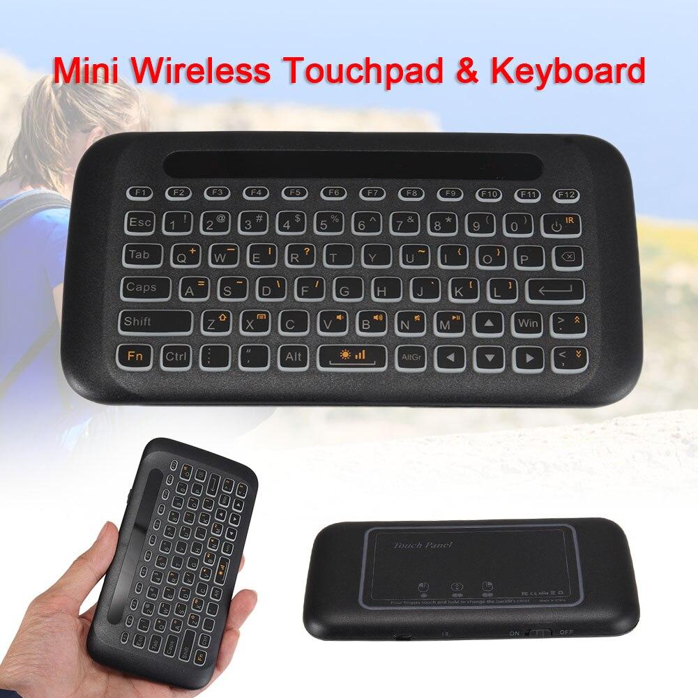 Wireless Keyboard Double-sided Mini 2.4G Full Screen USB Backlight Remote Control OD889