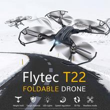Flytec T22 2.4G Foldable RC Drone Quadcopter With Hover Height Keep Function 4CH 6-Axis Gyro RC Aircraft