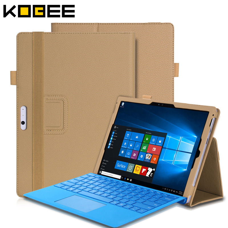 New for surface pro 4 case Luxury stand leather for microsoft surface pro 4 12.3'' tablet case Flip Book Hands Holder Wallet