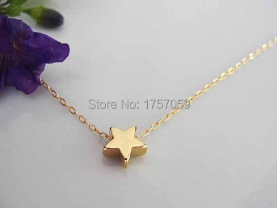 קסם עדין אופנה כוכב קטן שרשרת תליון לנשים טרנדי הבוהמי צבע זהב תכשיטי שרשראות שרשרת הפנטגון כוכבים