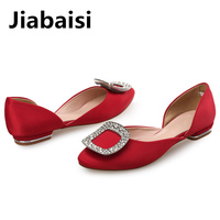 Jiabais Women Flats Round Toe Dazzling Flats Slip On Flats Shoes Large Size Comfort Shopping Casual