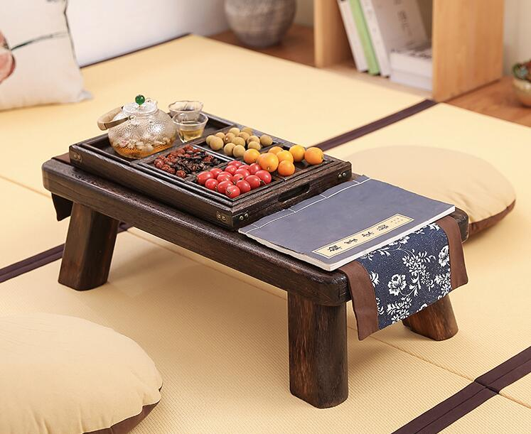 Charming Small Japanese Tea Table Traditional Rectangle Paulownia Wood Asian Antique  Furniture Living Room Low Floor Table For Dining In Coffee Tables From  Furniture ...