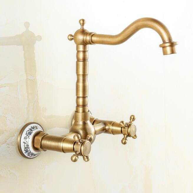 Free shipping Antique Bronze Finish 360 Degree Swivel Brass Basin Faucet Bathroom Basin Sink Mixer kitchen Faucet water tap