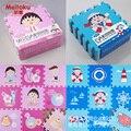 """Meitoku eva foam enigma do jogo do bebê mat/9 pçs/lote dos desenhos animados bloqueio tapete exercício, cada 30 cm x 30 cm x 1 cm = 12 """"x 12"""" x3/8"""""""