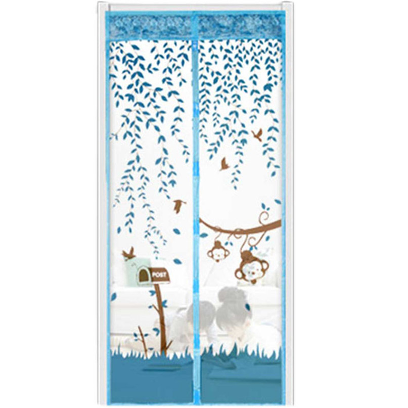 2017 Door Curtain Summer Prevent Mosquito Curtain Portiere Screen Door Magnetic Magnet Scenery Wholesale