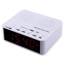 MX-017 Multifonctionnel Bluetooth Haut-Parleur Mini Portable Sans Fil Amplificateur FM Radio LED D'alarme Horloge Sans Fil Pour Mobile Téléphone