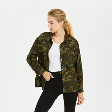2017 Women Blouses Spring Cotton Casual Turn-down Collar Camouflage Shirt Women Tops Blusas Mujer S M L XL 2XL