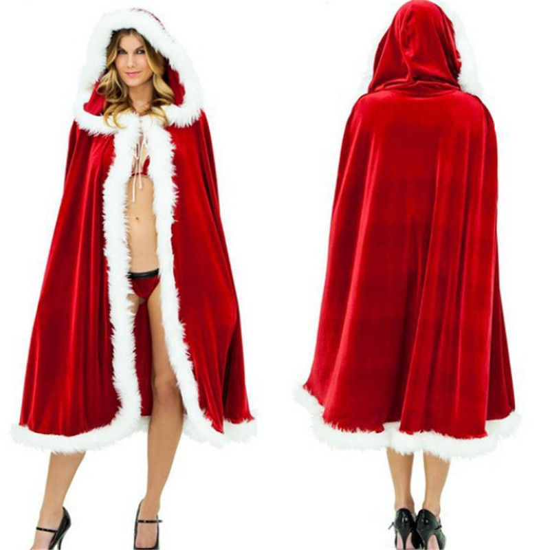 2018 New high quality Fashion Hot sexy Christmas Little Red Riding Hood Hat Cloak Coat Send Women Party Cloak