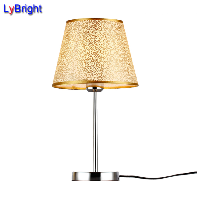 Modern Table Lamp AC 90 260V Bedside Bedroom Simple Fashionable Table Light  European Style